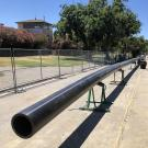 Image of hot water pipe for UC Davis' Big Shift project.